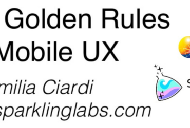 Voxxed Days Mobile: The 10 Golden Rules of Mobile UX